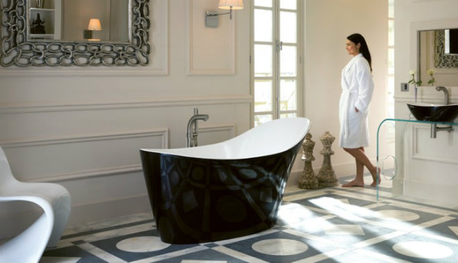 Victoria & Albert Amalfi freistehende Badewanne 1640x800 mm schwarz