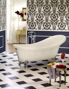 Freistehende Badewanne Azur 1750x825x395 mm weiß