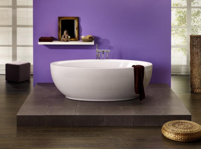 Freistehende Badewanne Luna 1800x940x450 mm weiß
