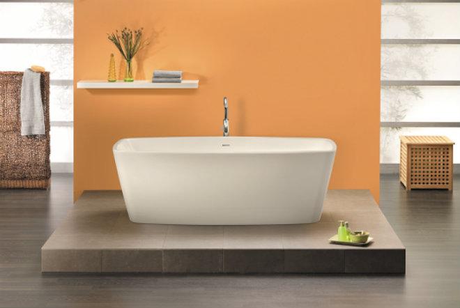 Freistehende Badewanne Primera 1700x800x570 mm weiß