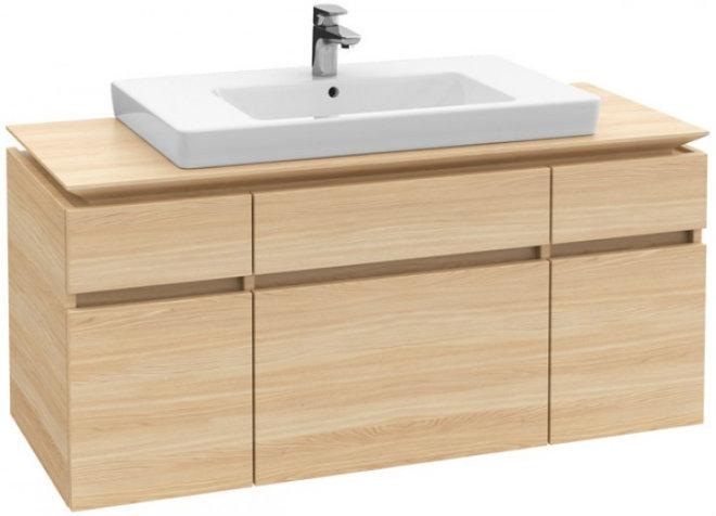 Villeroy & Boch Waschtischunterschrank Legato B217L0 Waschtisch mittig Oak Graphite