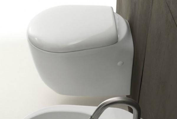 Axa one Serie Normal Wand-Tiefspül-WC 370x520 mm weiß glänzend