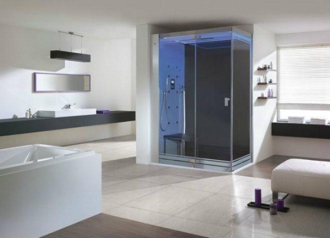 Hoesch Dampfbad SenseSation RE mit Duschwand 900x1550 mm