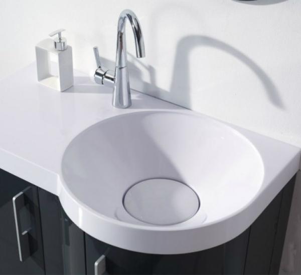 Neuesbad 3000 Badmöbelset inklusive Waschtisch, Unterschrank und Spiegel