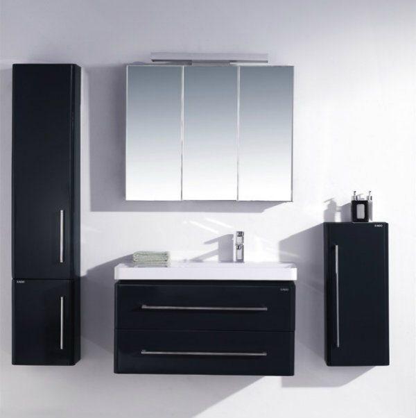 Neuesbad 4000 Badmöbelset inklusive Waschtisch, Unterschrank und Spiegelschrank