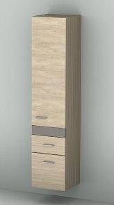 Sanipa Hochschrank (2morrow) MM25243R weiss-soft 1615x350x350 mm