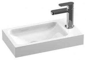 Treos Serie 710 Mineralguss Waschbecken mit Hahnloch