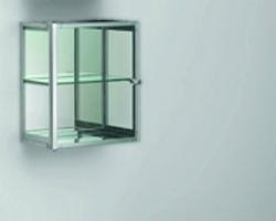 Decor Walther S 2 Glasschrank chrom Glas matt