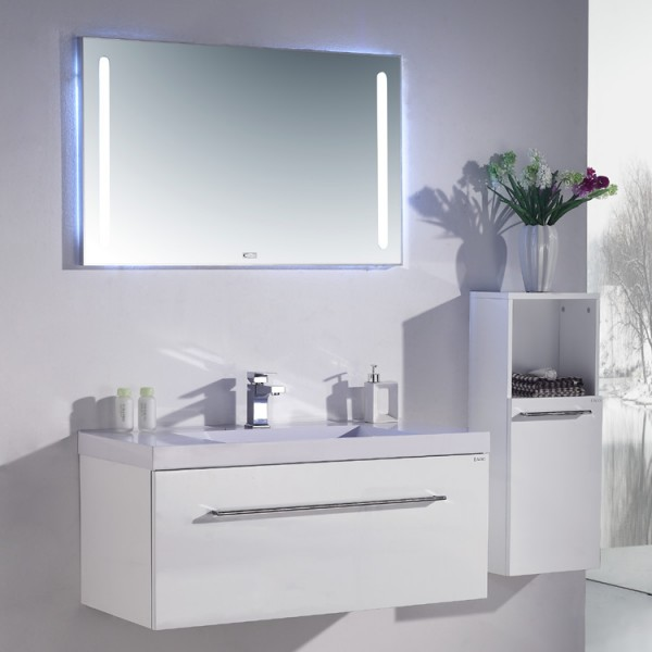 Neuesbad 1000 Badmöbelset inklusive Waschtisch, Unterschrank und Spiegel