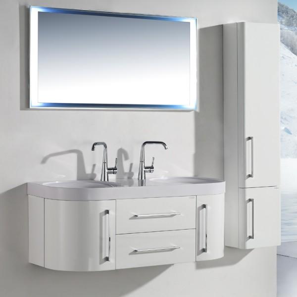 Neuesbad 3000 Badmöbelset mit Waschtisch, Unterschrank und Spiegel Breite 120 cm