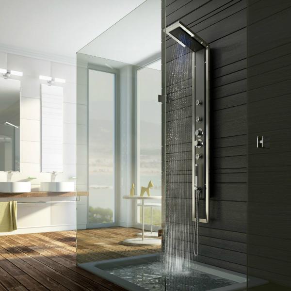 ein duschpaneel sorgt f r t gliche erholung neuesbad magazin. Black Bedroom Furniture Sets. Home Design Ideas