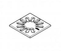 Kermi BA Ablaufabdeckung Basic (EDS) für Ablauf Point schwarz, 6041553