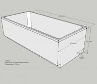 Neuesbad Wannenträger für für BetteOne 190x90cm, Trägerhöhe: 570 mm