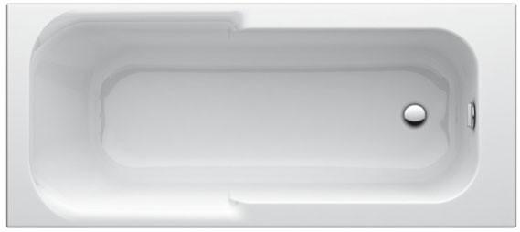Körperform-Badewanne Playa 1500mm weiss T962401