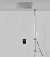 Tres elektronisches Thermostat Brauseset, mit Deckenbrause 380 x 380 mm