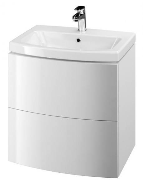 Neuesbad Serie 60 Waschtisch-Set 60cm, Keramikwaschtisch mit Unterschrank