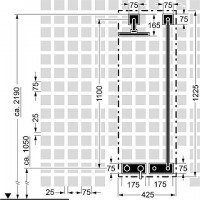 Hansa Fertigmont.-Installationspaket 9.1 zu Hansadesigno 4487 0031 chrom, 44870031
