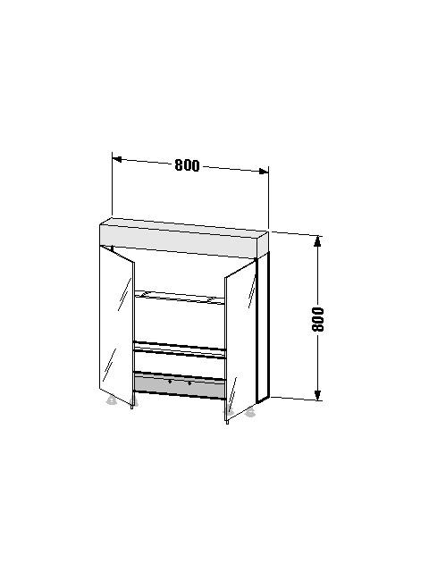 Spiegelschrank Vero 142x800x800mm VE760200000