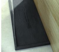 Fiora Silex Privilege Duschwanne, Breite 90 cm, Länge 120 cm, Farbe: schwarz
