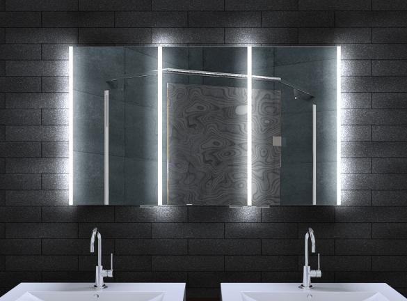 neuesbad alu led spiegelschrank b 1200 h 700 mm. Black Bedroom Furniture Sets. Home Design Ideas