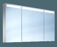 Schneider Spiegelschr. Arangaline/130/3/GT/LED, 1x29W+1x26W LED 1300x700x120 alueloxiert, 160.131.02