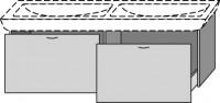 Sanipa Waschtischunterschrank 2day EG17816, Sand, H:475, B:1160, T:415 mm