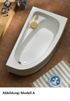 Eckbadewanne Marina Model B 1600 x 900 mm, weiß