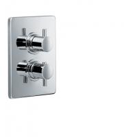 HSK Unterputz-Thermostat Eckig, mit 2-Wege-Umsteller, chrom