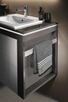 Sanipa Konsolenplatte vertikal mit Handtuchhalter, WT8002D Beton-Soft 340,0x85,0x520,0