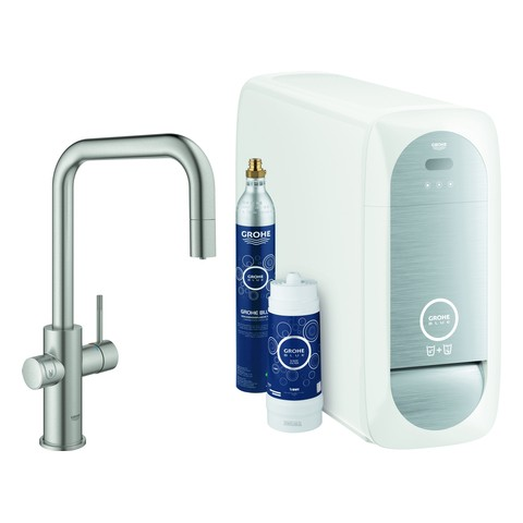 Grohe Blue Home Starter Kit 31543 auszb. Mousseur Bluetooth/WIFI U-Asl.supersteel, 31543DC0