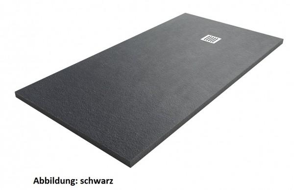Fiora Silex extraflache Duschwanne nach Maß, Breite: 121 - 150 cm, Tiefe: 90 cm , Höhe: 3 cm