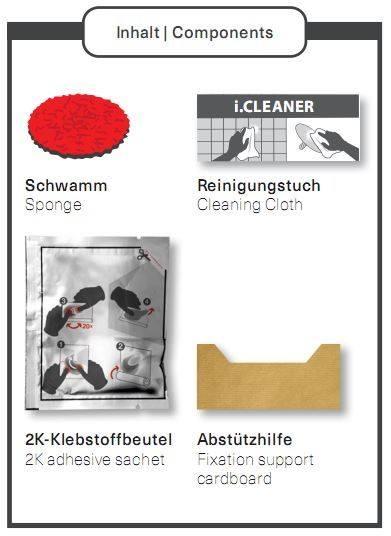 Giese Klebe-Set für gifix quattro/gifix uno, 88001-00
