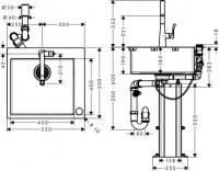 Hansgrohe Select Spülencombi 450 chrom C71-F450-01, 43207000