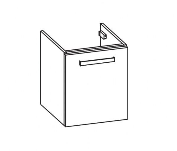 Artiqua 416 Waschtischunterschrank für Sento 5945, Weiß Glanz, 416-WUT-VT11-L-7050-68