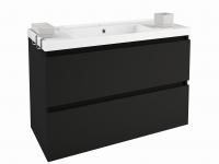 Cosmic B-Box Schrank 2 Schubladen mit Waschbecken glänzend, (100 cm), B05011001158