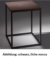 Bette Lux Shape Hocker schwarz, Holz Eiche Creme