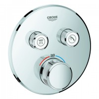 Grohe Thermostat Grohtherm SmartControl 29119 rund FMS 2 Absperrventile chrom, 29119000