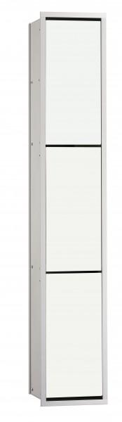 Emco asis WC-Modul (150), Unterputz, 964mm, ohne Einbau-Rahmen,alu/optiwhite, 976027465