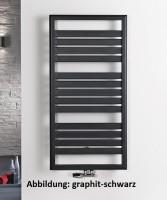 HSK Design-Heizkörper Image 600 x 1720 mm, Farbe: ebony (schwarz matt)