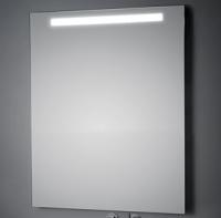 KOH-I-NOOR LED Wandspiegel mit Oberbeleuchtung, B: 800, H: 800, T: 33 mm