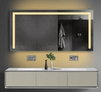Neuesbad LED Lichtspiegel mit Steckdose, Lichtfarbe wählbar, B:1400, H:700 mm