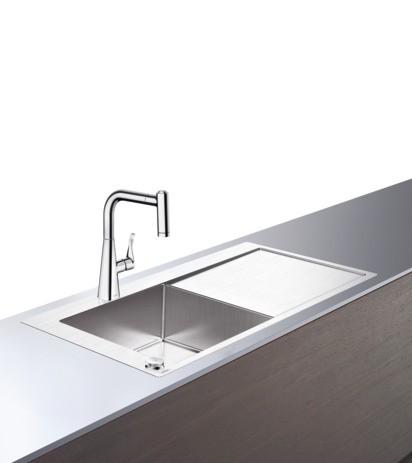 Hansgrohe Select Spülencombi 450 mit Abtropffläche C71-F450-11 chrom, 43229000