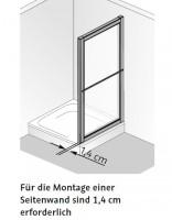 HSK Prima Seitenwand zur Gleittür 3-teiliig
