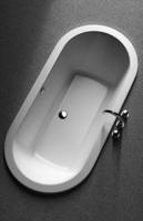 Koralle Badewanne T200 oval, L:1800, B:850mm, Überlauf mittig , K69640000