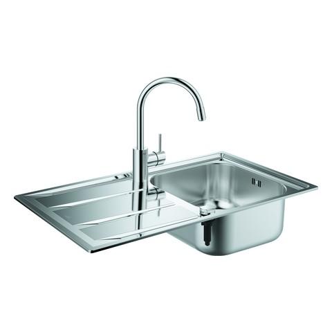 Bon GROHE Spülen Bundle K400 31570 Mit Edelstahlspüle/Concetto Küchenarmatur ,  31570SD0