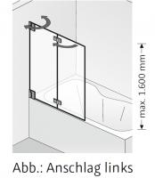 HSK K2.83 Badewannenaufsatz 2 bewegliche Elemente