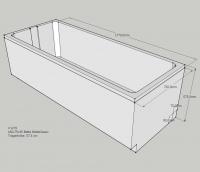 Neuesbad Wannenträger für Bette Classic 180x75