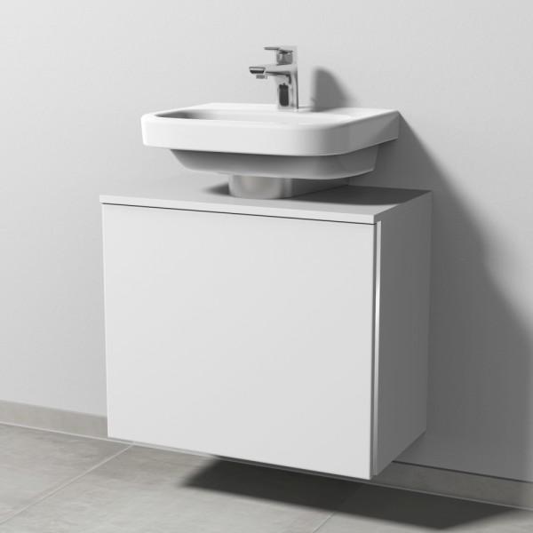 Sanipa 3way Waschtischunterschrank mit Auszug BR60043, Weiss-Soft