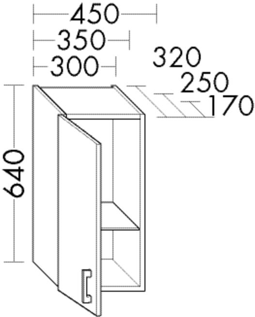 Image of Burgbad Hängeschrank Sys30 PG4 640x450x170 Eiche Schwarz, HF4547LF3449 HF4547LF3449