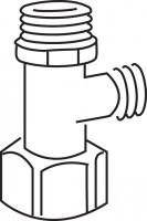 Mepa Eckventil 1/2 x3/8 A11,, A12-E11-E21-E31 + B11 bis B14, 590803